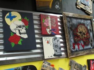 Motor Sports Shoppe Yard and Motor Art Gallery. Photo taken by Carin Miller.