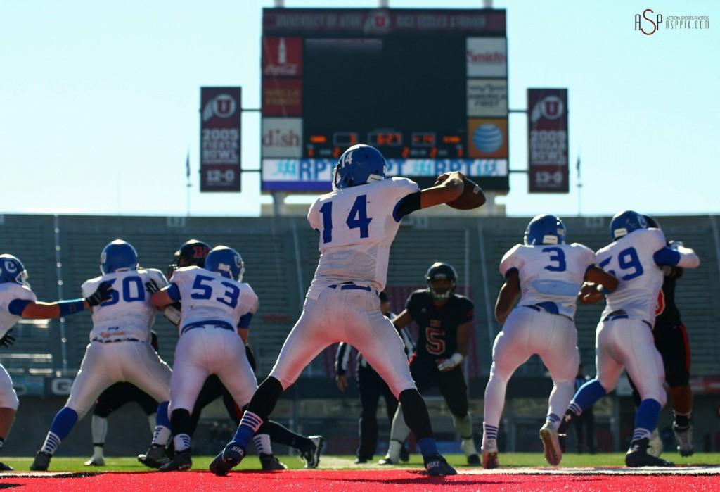 Dixie vs. Hurricane, 2014 3AA Football State Championship, Salt Lake City, Utah, Nov. 21, 2014 | Photo by Robert Hoppie, ASPpix.com, St. George News