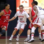 Dixie State University vs. Western Oregon University, St. George, Utah, Nov. 25, 2014 | Photo by Robert Hoppie, ASPpix.com, St. George News