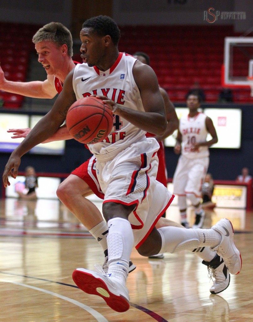 DeQuan Thompson, file photo from Dixie State University vs. Western Oregon University, St. George, Utah, Nov. 25, 2014 | Photo by Robert Hoppie, ASPpix.com, St. George News
