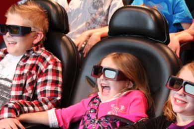 Kids enjoying a 4D movie ride at Laser Mania located 67 E. St. George Blvd. #10, St George, Utah, date not specified | Photo courtesy of Laser Mania, St. George News