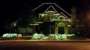 The Shipp family's home decorated green and white in honor of their son, Santa Clara, Utah, Nov. 10, 2014 | Photo courtesy of Denise Webster, St. George News