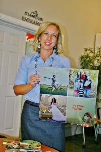 Stefanie Bevans holds up a photo gift printed on high-quality dibond aluminum, St. George, Utah, Oct. 1, 2014   Photo by Cami Cox Jim, St. George News