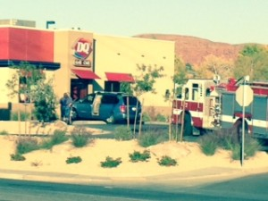 A collision at the Dairy Queen on Dixie Drive, St. George, Utah, Nov. 12, 2014 | Submitted photo, St. George News