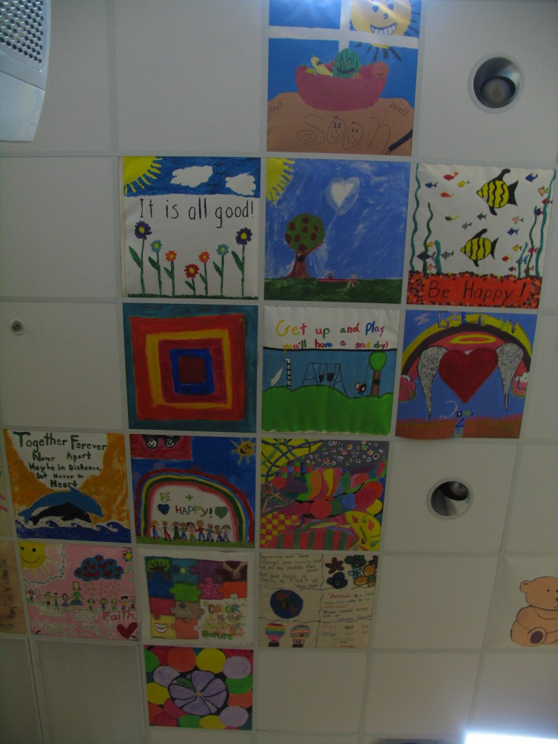 Artwork donated by Cedar City children to help lift the spirits of  those going through radiation treatments. Valley View Medical Center, Cedar City, Utah, October 2014 | Photo by Carin Miller, St. George News