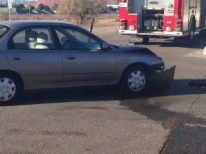 Accident at Sunland Drive and 400 East in St. George, Utah, Nov. 11, 2014 | Photo by Holly Coombs, St. George News