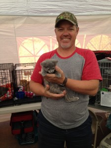 """Randy Ruesh adopted """"Ava"""" at the Mega Pet Adoption event, St. George, Utah, Nov. 14, 2014 