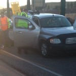 Gold Cross Ambulance responds to two accidents within 20 minutes on Red Cliffs Drive, St. George, Utah, Nov. 28, 2014 | Photo by Holly Coombs, St. George News