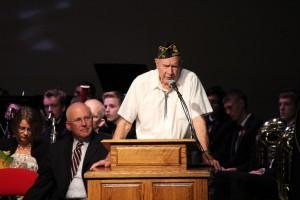 Richard Gunn, a WWII veteran, talks about his involvement in the Cedar City Community since his retirement, Cedar City, Nov. 11, 2014 | Photo by Devan Chavez, St. George News