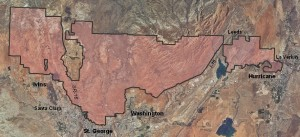 Red Cliffs Desert Reserve | Map courtesy of Red Cliffs Desert Reserve, Washington County HCP, St. George News | Click on map to enlarge
