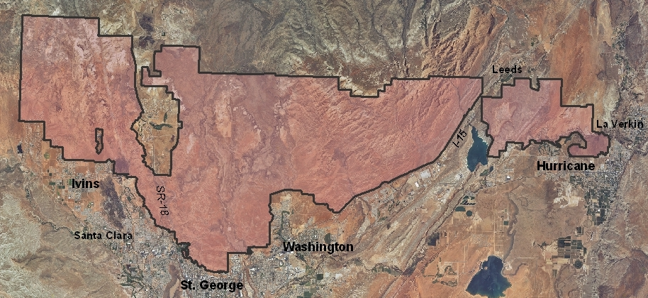 Red Cliffs Desert Reserve | Map courtesy of Red Cliffs Desert Reserve, Washington County HCP, St. George News