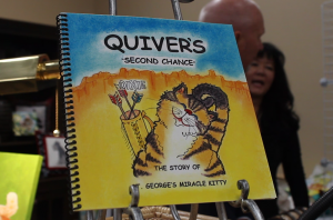Valerie Anderson's newly debuted book on display at the Furr and Purr bash 22 November, 2014 | Photo by Leanna Bergeron, St. George News