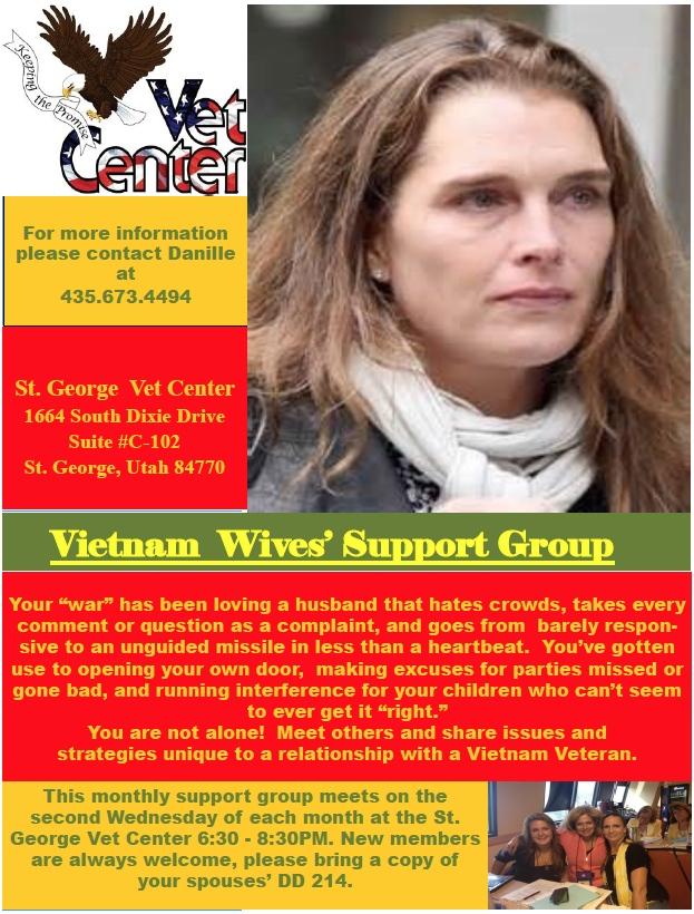 Vet Center Spouses Support Group Flyer