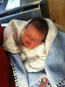 Luke Dedrick was delivered at early Halloween morning on the side of Highway 56 by Iron County Sheriff Deputy Tony Gower when his parents were too far from the hospital, date and location unspecified | Photo courtesy of Britnie Dedrick, for St. George News