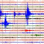 Activity registered from 11 a.m. to about 1 p.m. on the University of Utah seismograph at the Zion National Park seismic station, Utah, Nov. 20, 2014 | Image courtesy of the U of U Seismograph Stations, St. George News