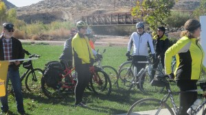 Members of the Southern Utah Bicycling Alliance gathered to support the Utah Transportation Coalition campaign, St. George, Utah, Nov. 18, 2014 | Photo by Mori Kessler, St. George News