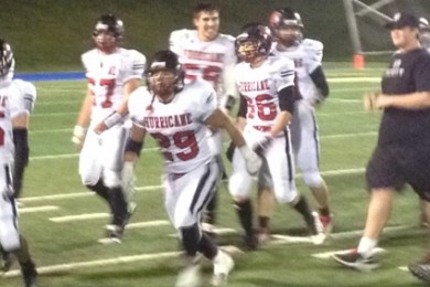 Hurricane players celebrate after beating the Soaring Eagle 32-15, Hurricane at Juan Diego, Draper, Utah, Nov. 7, 2014   Photo by AJ Griffin, St. George News
