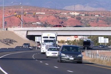 Traffic on Interstate 15 passing through St. George, Utah, Nov. 25, 2014 | Photo by Melissa Anderson, St. George News and KCSG
