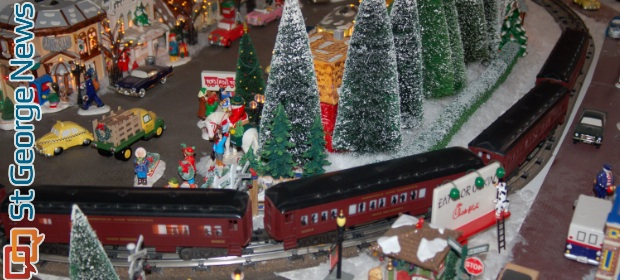 Christmas Village With Train