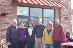 River Road Jiffy Lube owners and their wives from left to right, Kelly Kent, Connie Kent, Kirsten Thompson, Kelly Thompson, Lisa Johsnon and Matt Johnson at the ribbon cutting ceremony, St. George, Utah, Nov. 14, 2014 | Photo by Hollie Reina, St. George News