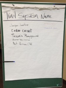 The BLM allowed community members to propose their own names for the the new trail system, Cedar City, Utah, Nov. 20, 2014 | Photo by Devan Chavez, St. George News