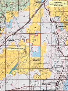 Land parcel near Leeds undergoing archeological assessment. | Map courtesy Washington County Commission, St. George News