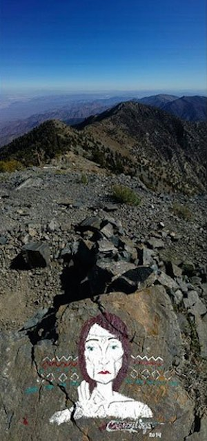 Casey Nocket leaves her mark at Death Valley's Telescope Peak, circa 2014 | Photo courtesy of Modern Hiker, St. George News