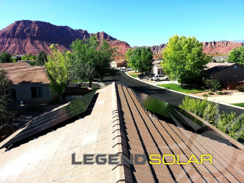 Legend Solar work on a Southern Utah home. Southern Utah, circa 2014 | Photo courtesy of Legend Solar, St. George News
