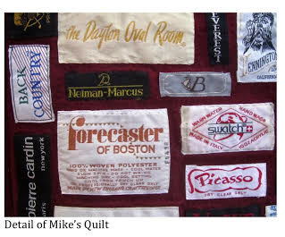 Detail of labels featured on the quilt, St. George, Utah | Photo courtesy of Michael Zabriskie