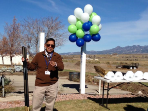 GMH Administrator Alberto Vasquez kicking off the Groundbreaking Ceremony outside the Garfield Memorial Hospital located at 200 N. 400th East in Panguitch, Utah, Oct. 27, 2014 | Photo courtesy of the Garfield Memorial Hospital, St. George News