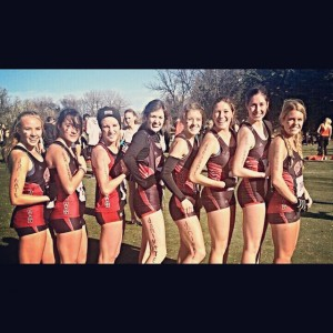 The SUU women's cross-country team run in support of Nate Houle, a former teammate now diagnosed with cancer, Grand Forks, North Dakota, Nov. 1, 2014 | Photo courtesy of Jasmyn Hildebrandt, for St. George News