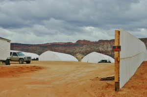 A city-funded encampment is being built in Colorado City, Arizona, Dec. 12, 2014 | Photo by Cami Cox Jim, St. George News