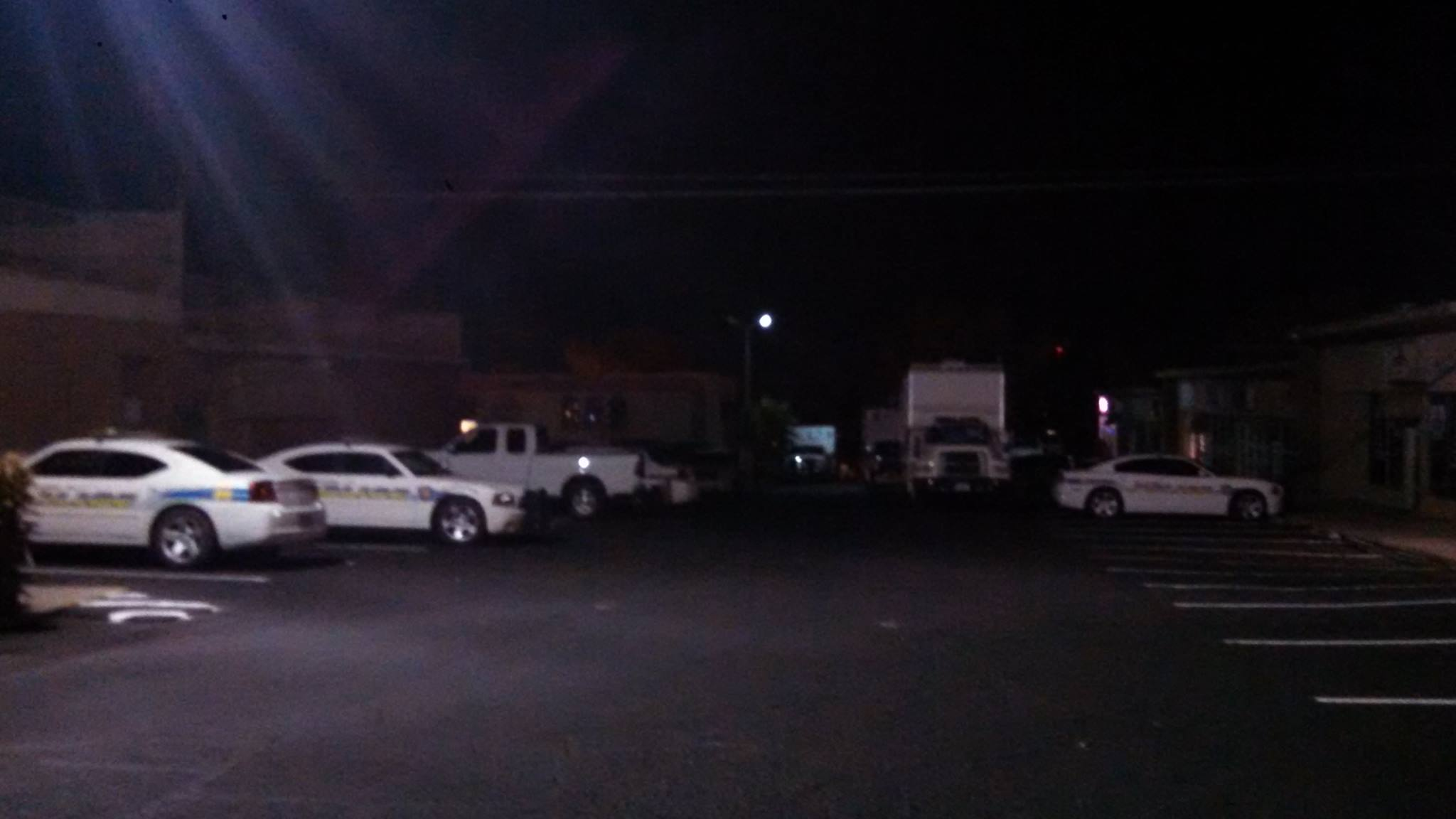 Police media point at Sunburst Shopping Center, 700 E. and Tabernacle in relation to standoff at residential property in the area of 500 E. and St. George Boulevard, St. George, Utah, Dec. 2, 2014 | Photo by Mori Kessler