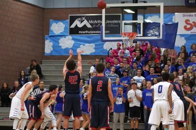 Dixie vs. Springville, Boys Basketball, St. George, Utah, Dec. 12, 2014 | Photo by Robert Hoppie, ASPpix.com, St. George News