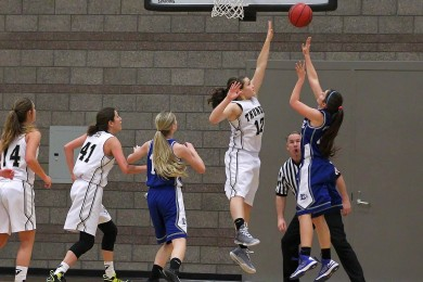 Desert Hills vs.Dixie, Girls Basketball, St. George, Utah, Dec. 16, 2014 | Photo by Robert Hoppie, ASPpix.com, St. George News