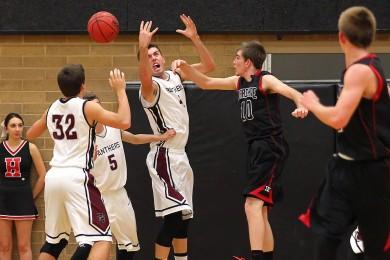 Hurricane vs Pine View, Boys Basketball, St. George, Utah, Dec. 17, 2014 | Photo by Robert Hoppie, ASPpix.com, St. George News