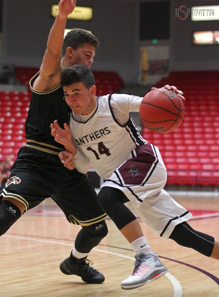 Chaz Petersen (14) . File photo from Pine View vs. Maple Mountain, Boys Basketball, St. George, Utah, Dec. 18, 2014 | Photo by Robert Hoppie, ASPpix.com, St. George News