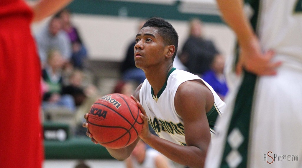 SC's TJ Taimi, file photo from Snow Canyon vs. Manti, Boys Basketball, St. George, Utah, Dec. 20, 2014 | Photo by Robert Hoppie, ASPpix.com, St. George News