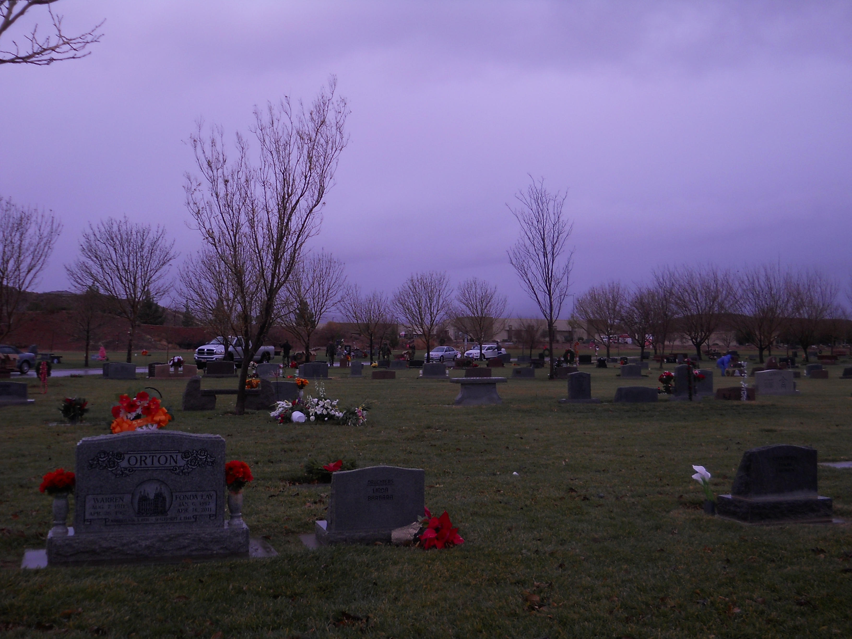 The dark sky sets a somber tone to the Wreaths Across America ceremony Saturday morning at the Tonaquint Cemetery located at 1851 South Dixie Drive in St. George, Utah, Dec. 13, 2014   Photo by Aspen Stoddard, St. George News