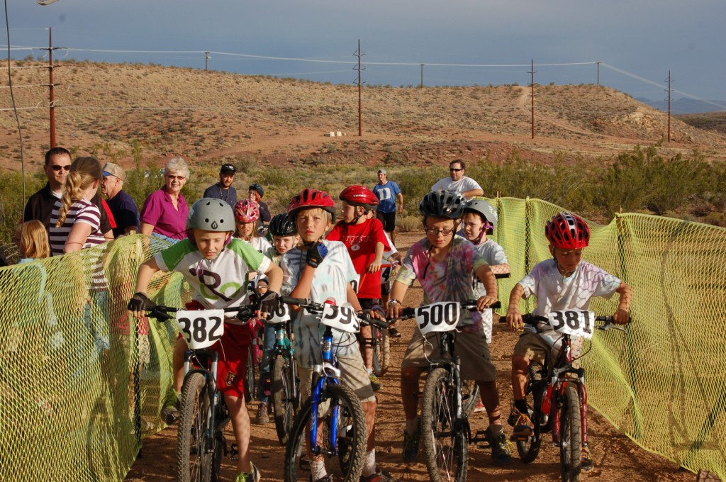 Kids ages 10 and younger participate in the kids race at the first-ever Fall Fury, St. George, Utah, Oct. 17, 2014 | Photo by Hollie Reina, St. George News