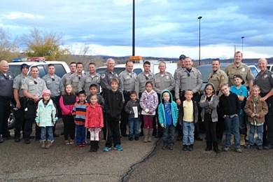 Washington County youth chosen through KONY Coins for Kids were able to eat breakfast and shop with local law enforcement officers at Shop with a Cop, Washington, Utah, Dec. 13, 2014 | Photo by Brett Barrett, St. George News