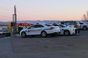 The St. George Police Department and Fire department responded to an accident involving three cars at 1000 E. St. George Blvd, St. George, Utah | Photo by Devan Chavez, St. George News