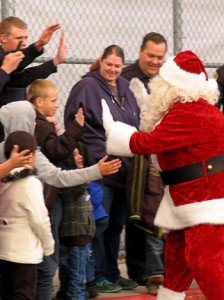 "Santa was flown in to Wal-Mart Saturday morning for the Iron County ""Shop with a Cop"" event, Cedar City, Utah, Dec. 13, 2014 