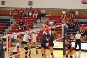 Photo of Hannah Harrah playing for Dixie State University with teammates, St. George, undated   Photo courtesy of Erin Zeltner, St. George News