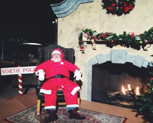 Santa Claus at Tuacahn's Christmas in the Canyon, Ivins, Utah, Dec. 5, 2014 | Photo by Ali Hill, St. George News