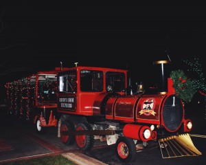 Old Salty Train, provided by Ruby's Inn, at Tuacahn's Christmas in the Canyon, Ivins, Utah, Dec. 5, 2014 | Photo by Ali Hill, St. George News