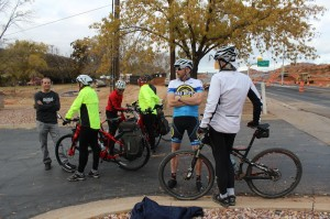 Cyclists participate in a christening ride at the new Red Hills Parkway Interchange, St. George, Utah, Dec. 3, 2014 | Photo by Devan Chavez, St. George News