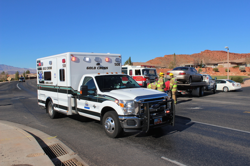 Woman Transported To Hospital After 2 Vehicle Collision On