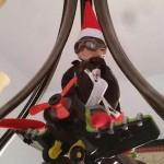 Bernard the elf watches over Rhett and Marsha Nisson's children from a chandiler, St. George, Utah, circa, December 2014   Photo courtesy of Marsha Nisson, St. George News