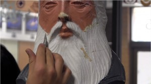 Students at Kanab High School restore the city's antique Nativity scene, Kanab, Utah, date not specified | Screenshot from video by Joshua Baird, St. George News